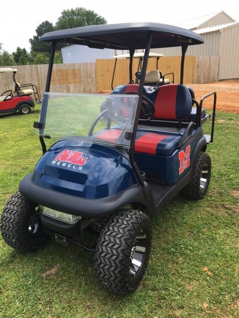 Ole Miss lifted golf cart for sale