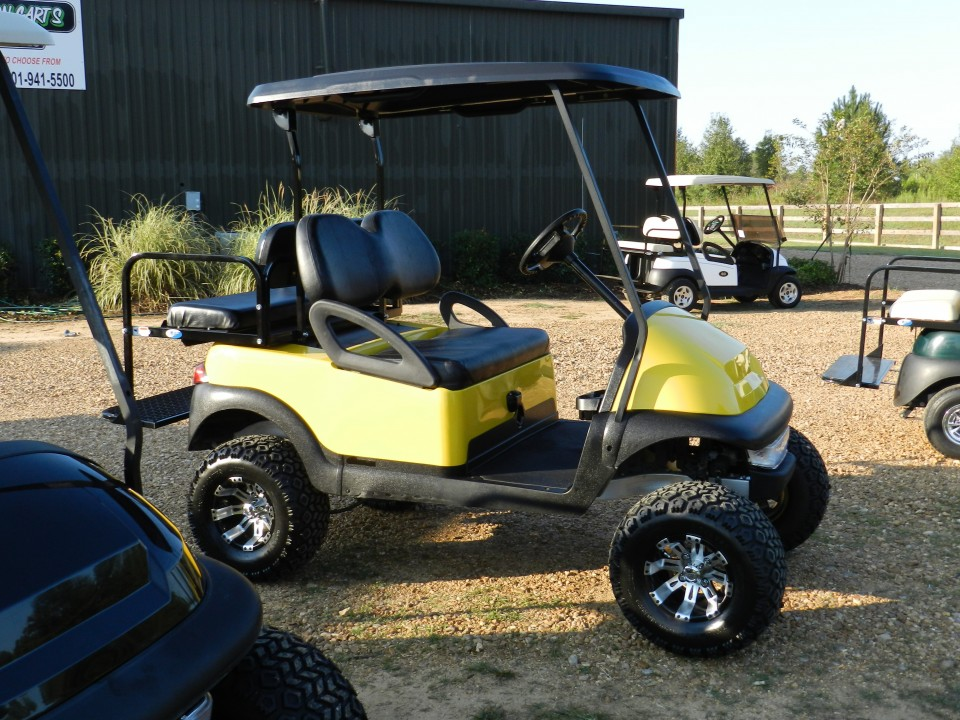 yellow club car precedent golf cart  sale southeastern carts accessories custom pre