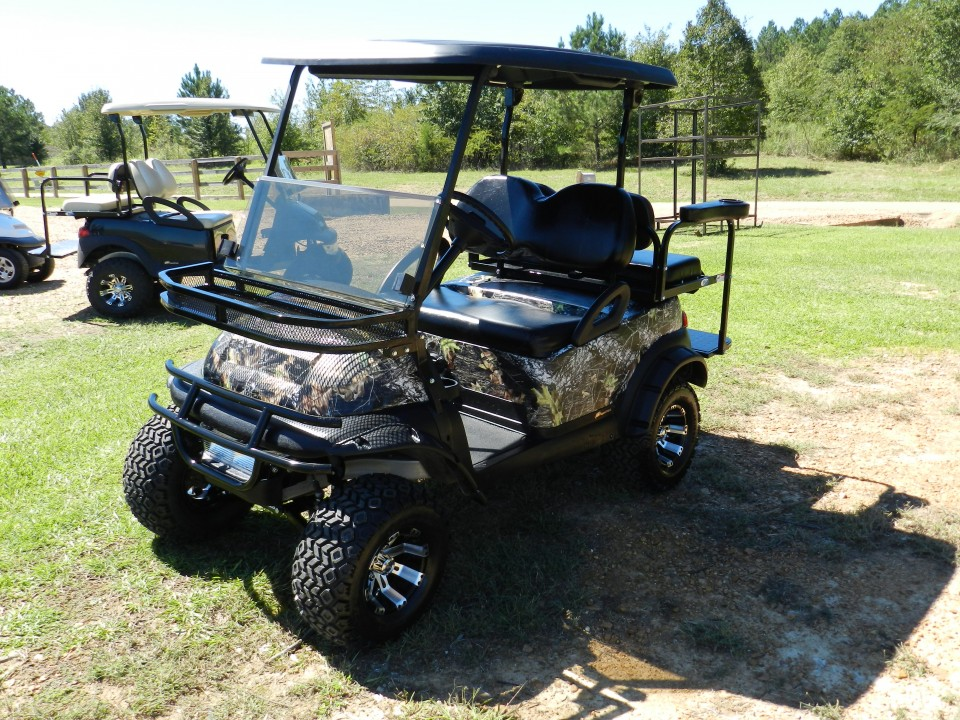 Blacked Out Camo Club Car Precedent Golf Cart For Sale