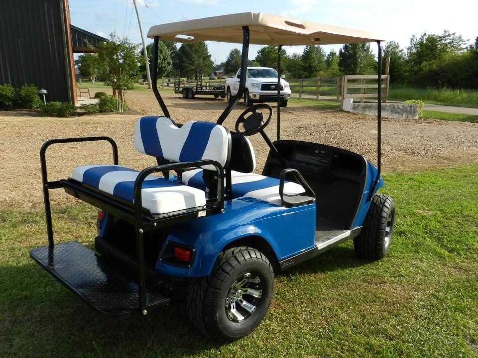 Blue 2-Tone EZGo TXT w/ 2012 Batteries Golf Cart For Sale ... on ez go golf cart engine parts, ez go golf cart exhaust, ez go golf cart coolers, ez go golf cart front end, ez go golf cart seats, ez go golf cart kits, ez go golf cart drive train,