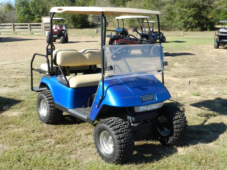 Blue 2008 EZGO TXT Golf Cart, Canton, Mississippi