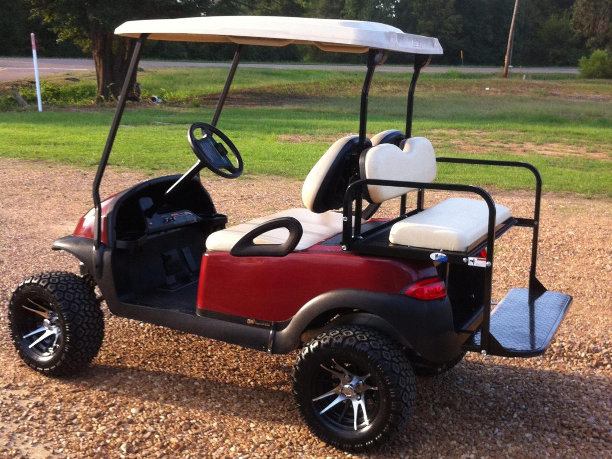 Burgundy 2009 Club Car Precedent Golf cart Canton Mississippi