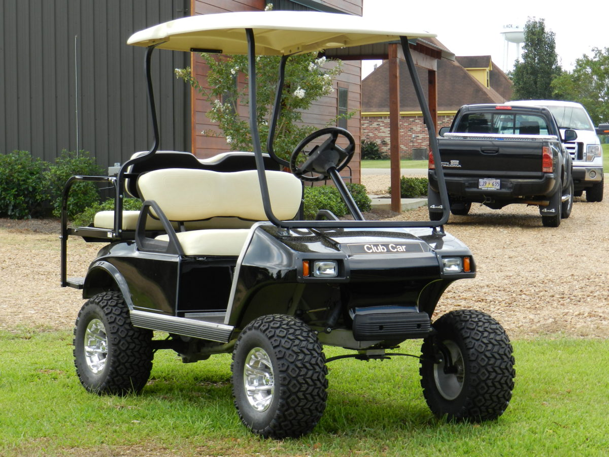 Black Club Car DS Gas Model - Southeastern Carts & Accessories ... on gas powered golf carts sale, custom golf carts sale, gas powered golf cart for off-road,