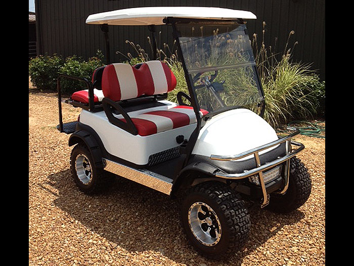 Custom White Club Car Precedent Southeastern Carts Accessories