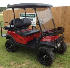 red-lifted-ezgo-for-sale