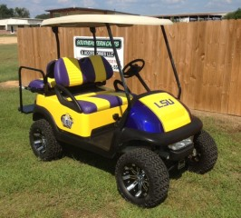 LSU Custom College Golf Cart