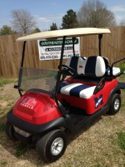 Ole Miss Rebels Custom Golf Cart