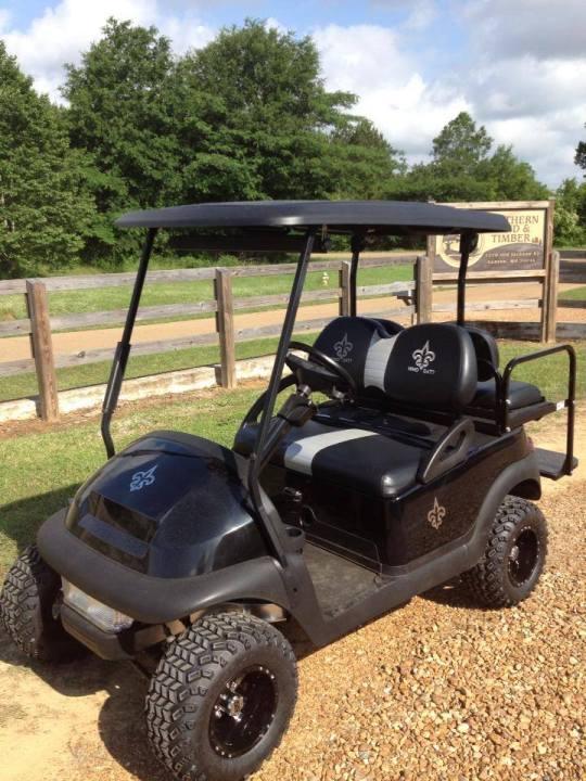 New Orleans Saints Golf Cart for sale Ms