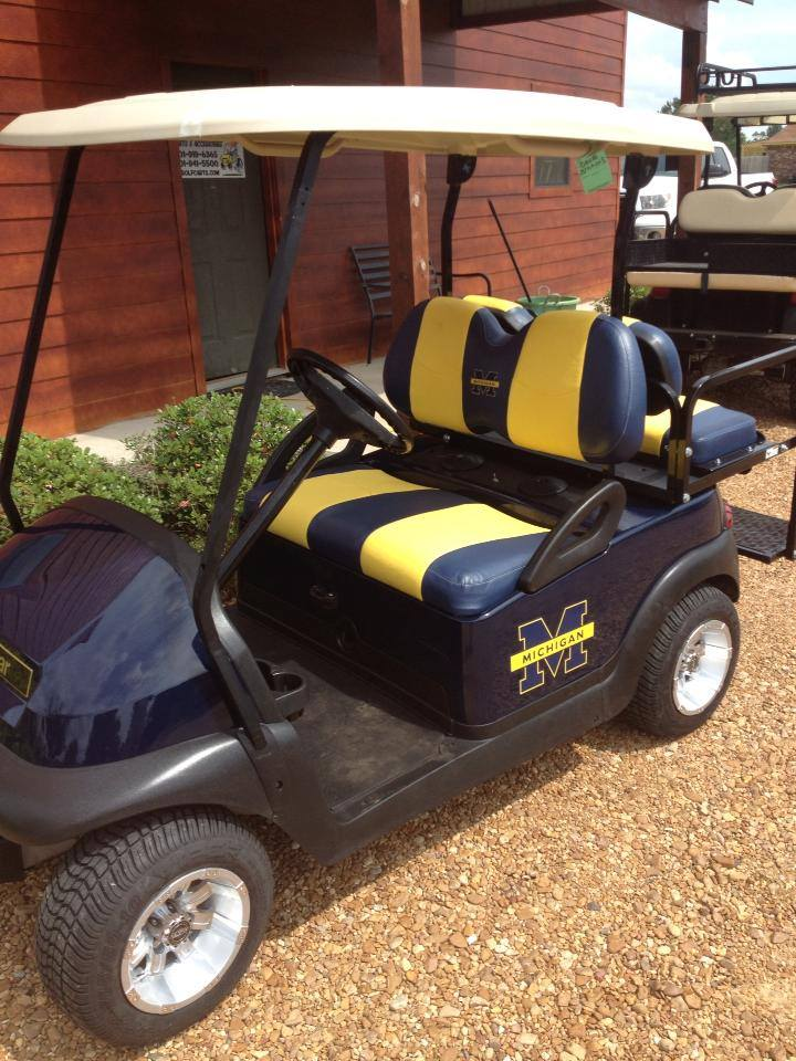 university of michigan golf cart southeastern carts accessories custom pre owned golf carts. Black Bedroom Furniture Sets. Home Design Ideas