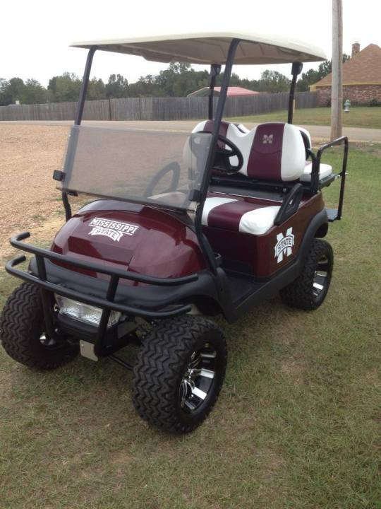 Mississippi State golf cart