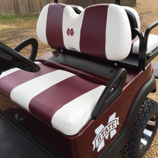 custom college team golf carts