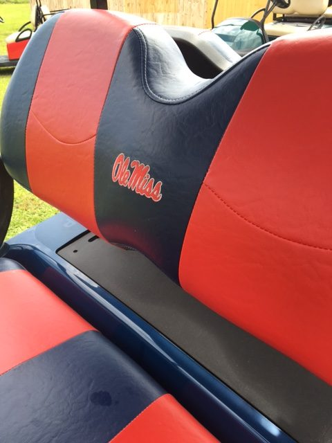 college team golf cart seats for sale ms