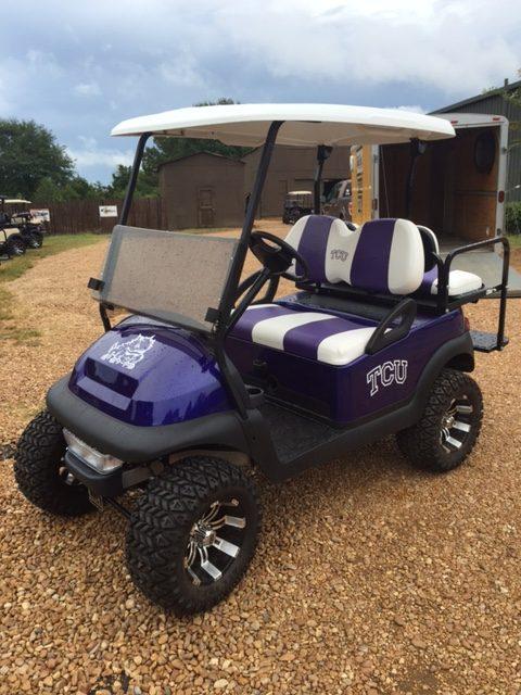 TCU custom golf cart for sale