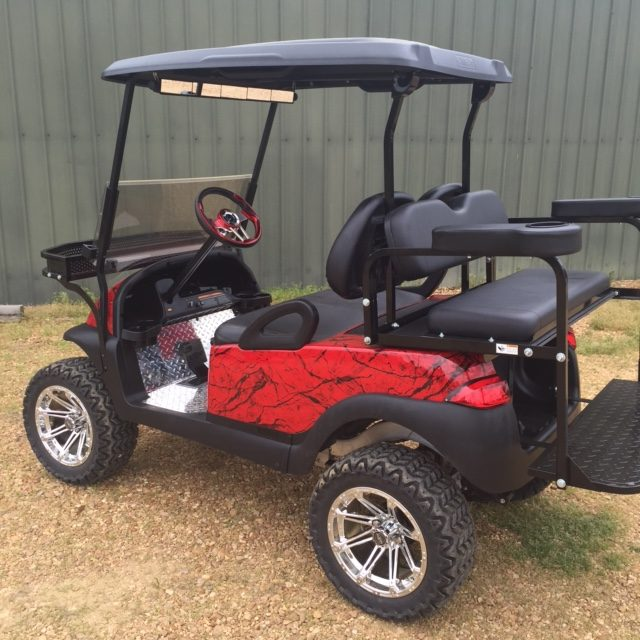 customized golf cart paint