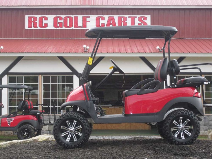Custom Red and Black Club Golf Cart