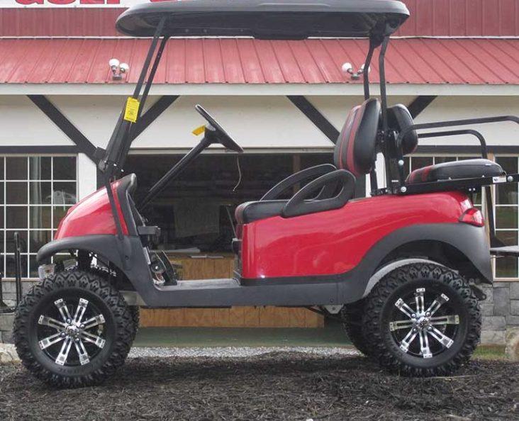 Custom Red and Black Club Golf Cart