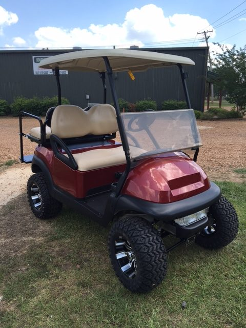 Candy apple red golf cart