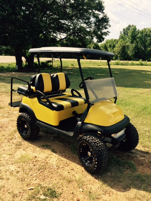 Bumblebee golf cart - yellow and black 2015 Club car