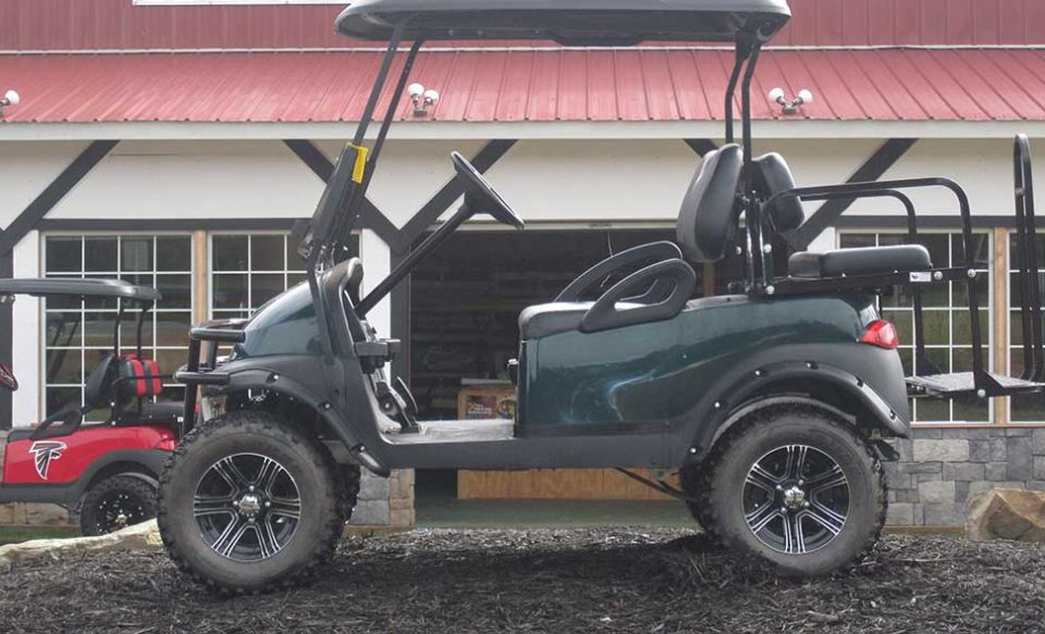 Custom Hunter Green Club Cart for sale