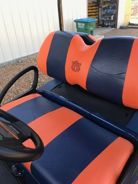 Embroidered Seat for golf cart for sale MS