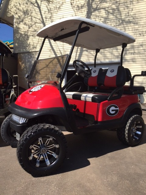 Custom Georgia Bulldogs Golf Cart