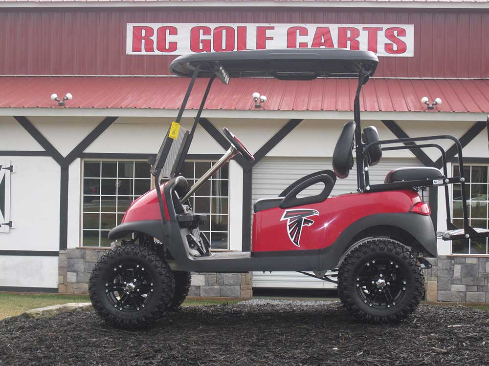 Red Georgia Falcons Club Cart