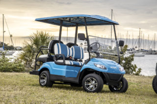 icon golf cart with mirrors